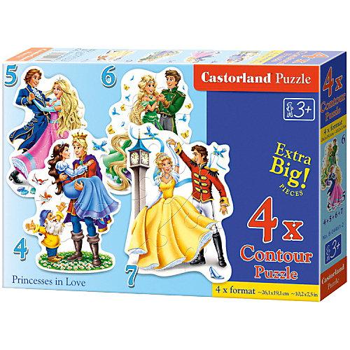 """Набор пазлов Castorland """"Бал принцесс"""", 4/5/6/7 деталей от Castorland"""