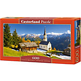 """Пазл Castorland """"Церковь Мартерле, Австрия"""", 600 деталей"""