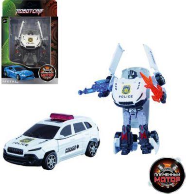 Трансформер Пламенный мотор Робот-Машина Полиция