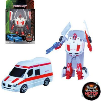 Трансформер Пламенный мотор Робот-Машина Скорая помощь