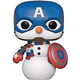 Фигурка Funko POP! Bobble: Marvel: Рождественский Капитан Америка, 43335