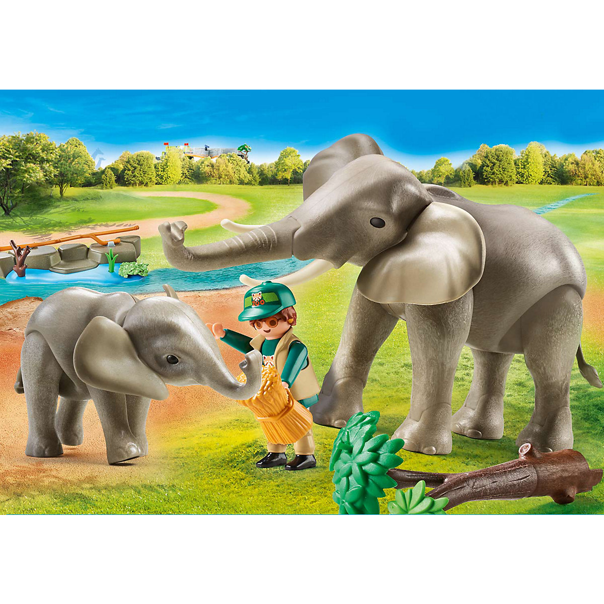 PLAYMOBIL® 70324 Elefanten im Freigehege PLAYMOBIL Family Fun G9o1B