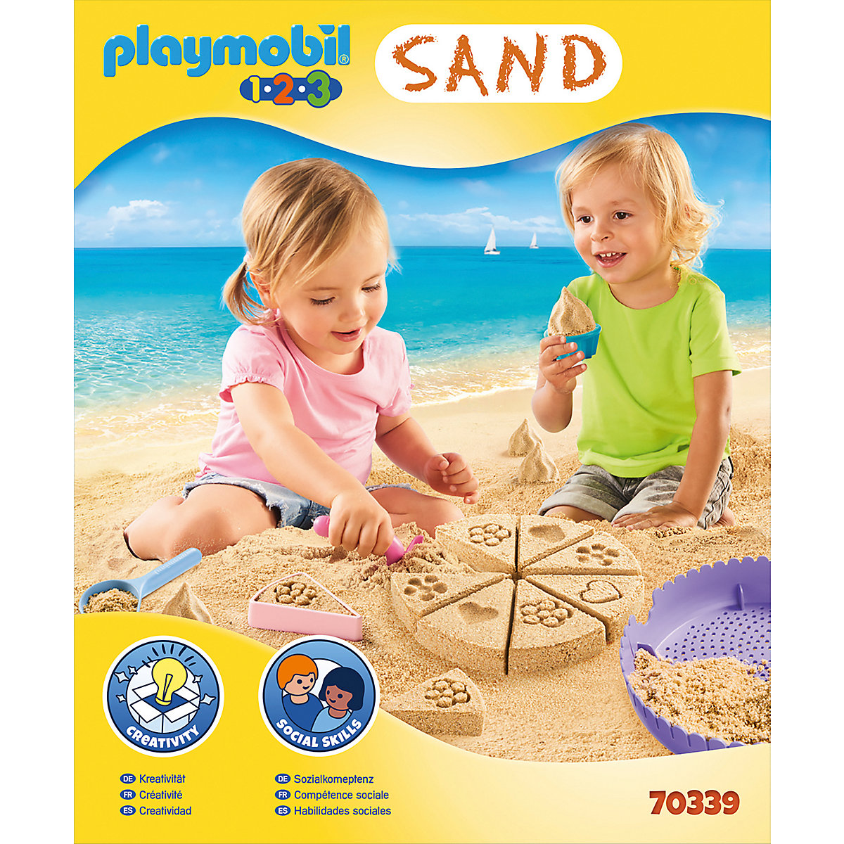 "PLAYMOBIL® 70339 Kreativset ""Sandbäckerei"" PLAYMOBIL 1 2 3 scJ5R"