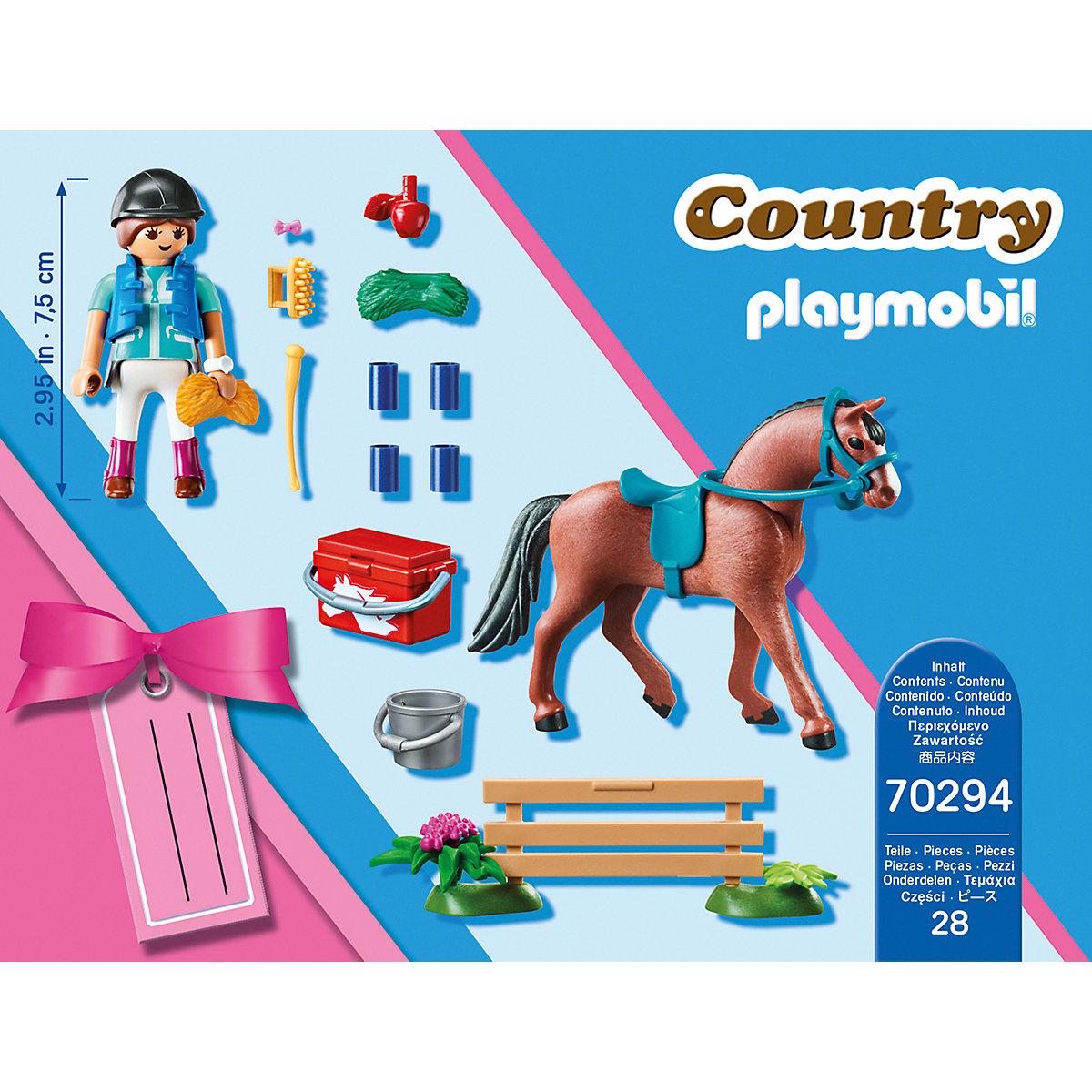 """PLAYMOBIL® 70294 Geschenkset """"Reiterhof"""" PLAYMOBIL Country Ou0It"""