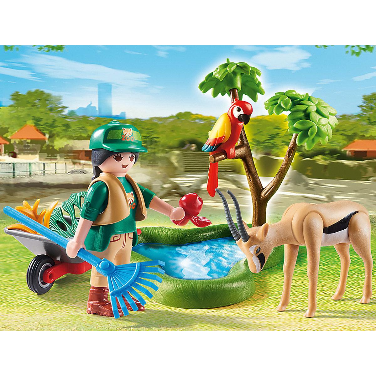 """PLAYMOBIL® 70295 Geschenkset """"Zoo"""" PLAYMOBIL Family Fun vChVL"""