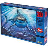 Пазл Prime 3D «Большая белая акула», 500 деталей (стереоэффект)