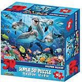 Пазл Prime 3D «Дельфиний восторг», 63 деталей (стереоэффект)