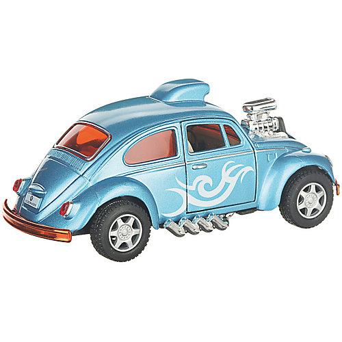 Коллекционная машинка Serinity Toys Volkswagen Beetle гоночная раскрашенный, голубая от Serinity Toys