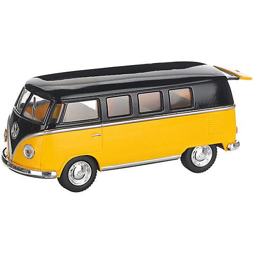 Коллекционная машинка Serinity Toys 1962 Volkswagen Classical Bus, чёрно-жёлтый от Serinity Toys