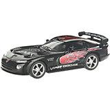 Коллекционная машинка Serinity Toys Dodge Viper раскрашенный, чёрная