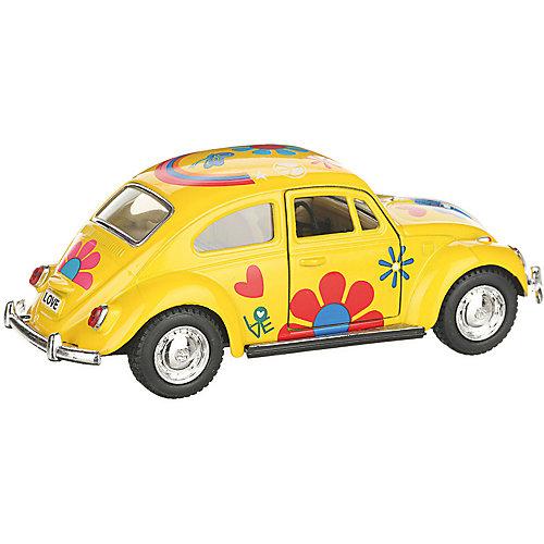 Коллекционная машинка Serinity Toys Volkswagen Beetle Classical раскрашенный, жёлтая от Serinity Toys