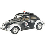 Коллекционная машинка Serinity Toys Volkswagen Beetle Classical Полиция, чёрная
