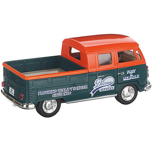 Коллекционная машинка Serinity Toys 1963 Volkswagen Пикап, оранжево-зелёная от Serinity Toys
