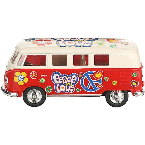 Коллекционная машинка Serinity Toys 1962 Volkswagen Classical Bus, бежево-красный от Serinity Toys