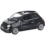 Коллекционная машинка Serinity Toys Fiat 500, чёрная