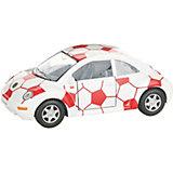 Коллекционная машинка Serinity Toys Volkswagen Beetle New Футбольный, белая с красным