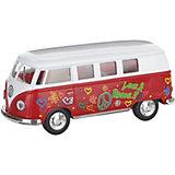 Металлический автобус Serinity Toys Volkswagen Classical раскрашенный, красная