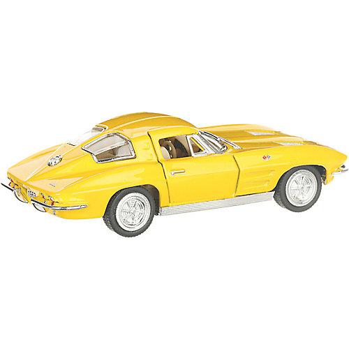 Коллекционная машинка Serinity Toys 1963 Chevrolet Corvette Sting Ray, жёлтая от Serinity Toys