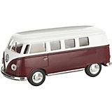 Металлический автобус Serinity Toys Volkswagen Classical, бордовый