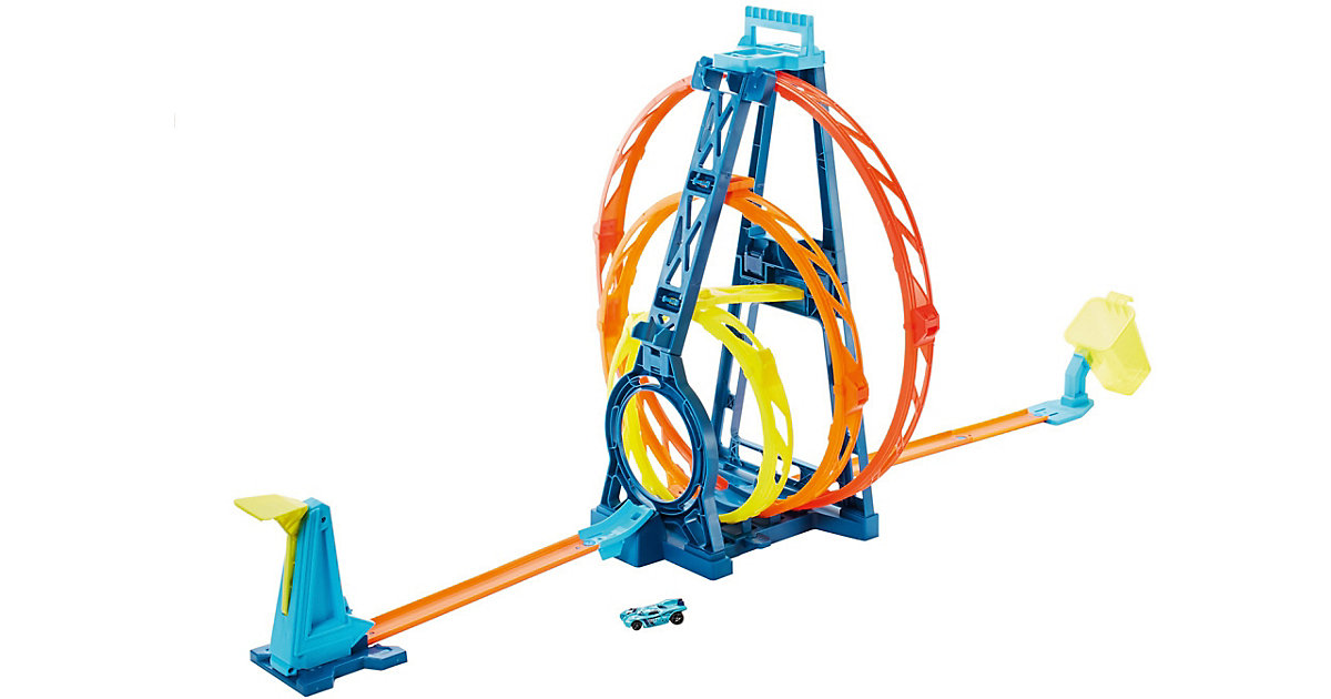 Hot Wheels Track Builder Unlimited Looping-Set inkl. Spielzeugauto, Autorennbahn