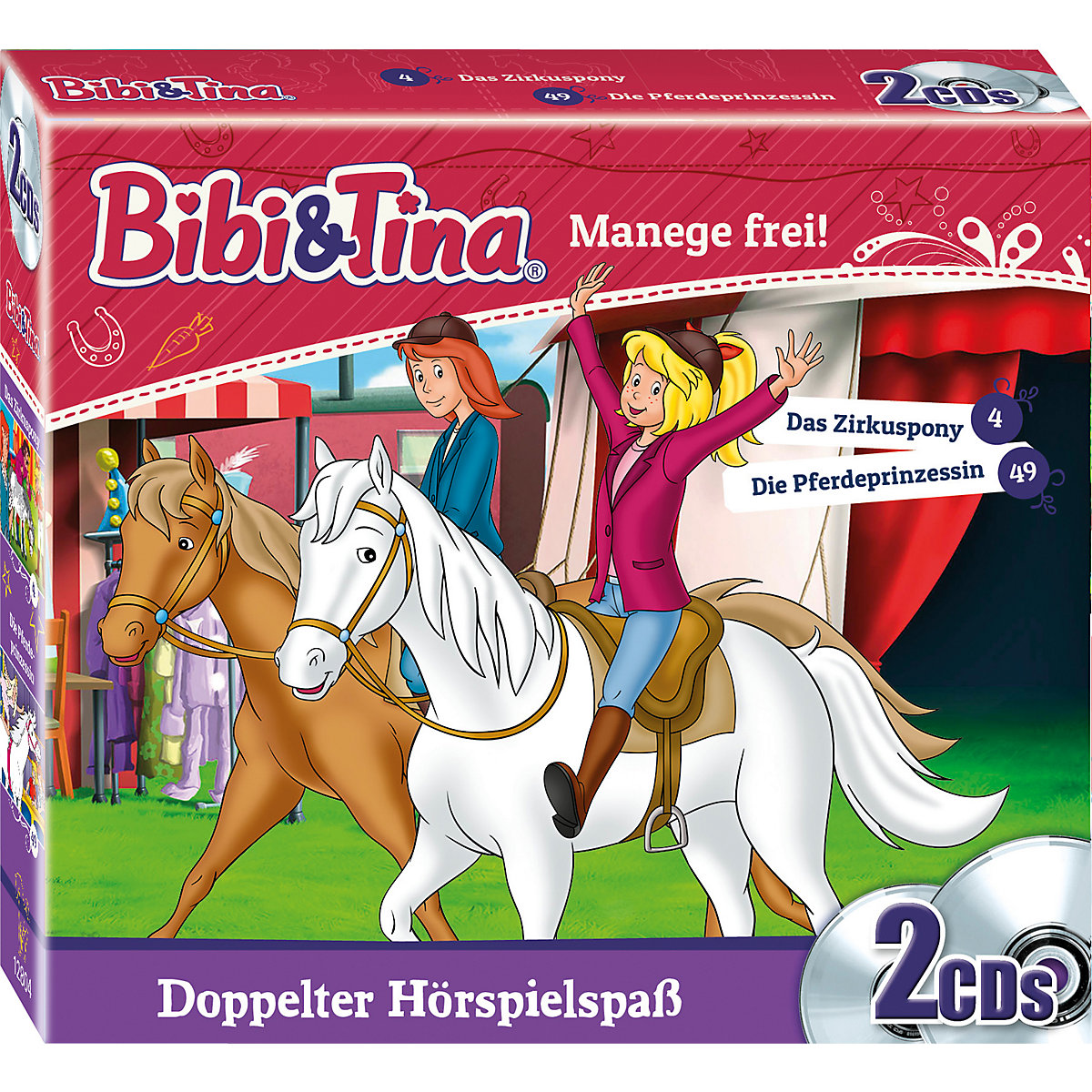 CD Bibi und Tina - Manege frei (Folgen 4 & 49 2 CDs) Bibi und Tina 7c2jp