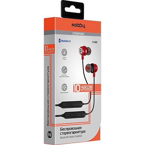 Наушники Nobby Comfort S-100, красные