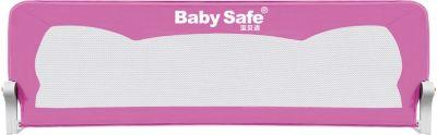 Барьер для кроватки Baby Safe Ушки, 180х42 см, розовый