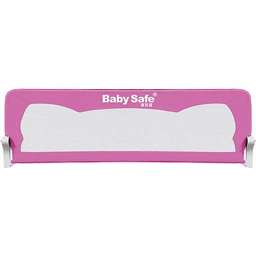 Барьер для кроватки Baby Safe Ушки, 180х42 см, розовый от Baby Safe