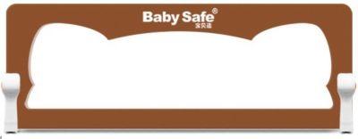 Барьер для кроватки Baby Safe Ушки, 150х66 см, коричневый