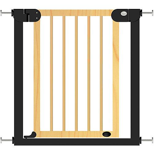 Барьер-калитка для дверного проема Baby Safe XY-006, 75-85 см, черный металл + натуральное дерево от Baby Safe
