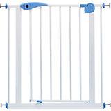 Барьер-калитка для дверного проема Baby Safe XY-008, 75-85 см, белый/синий металл