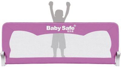 Барьер для кроватки Baby Safe Ушки, 150х42 см, розовый