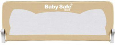 Барьер для кроватки Baby Safe Ушки, 150х42 см, бежевый