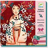 Набор для создания картин с блёстками Djeco Золото и шёлк
