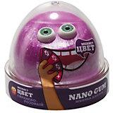 Жвачка для рук Nano Gum сиренево-розовая, 50 г