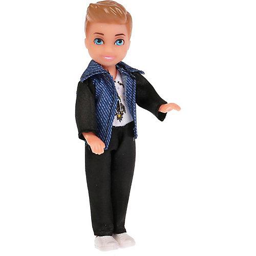 Кукла Карапуз Сашенька в джинсовке от Карапуз