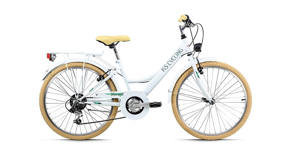 Image of Kinderfahrrad 24'' Toscana weiß 6 Gänge Fahrräder, Rahmenhöhe: