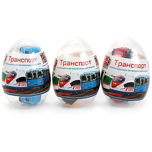 Машинка Технопарк Городской транспорт, в яйце от ТЕХНОПАРК