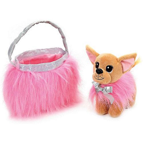 Мягкая игрушка Мой питомец Собака чихуахуа в розовой сумочке от Мой питомец