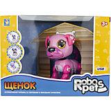 Интерактивная игрушка 1Toy Robo Pets Робо-щенок, розовый
