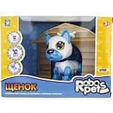 Интерактивная игрушка 1Toy Robo Pets Робо-щенок, бело-голубой