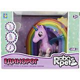 Интерактивная игрушка 1Toy Robo Pets Робо-единорог, розовый