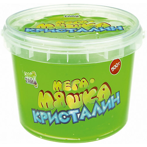 "Слайм 1Toy ""Мега-Мяшка"" Кристалин зелёный, 500 г от 1Toy"