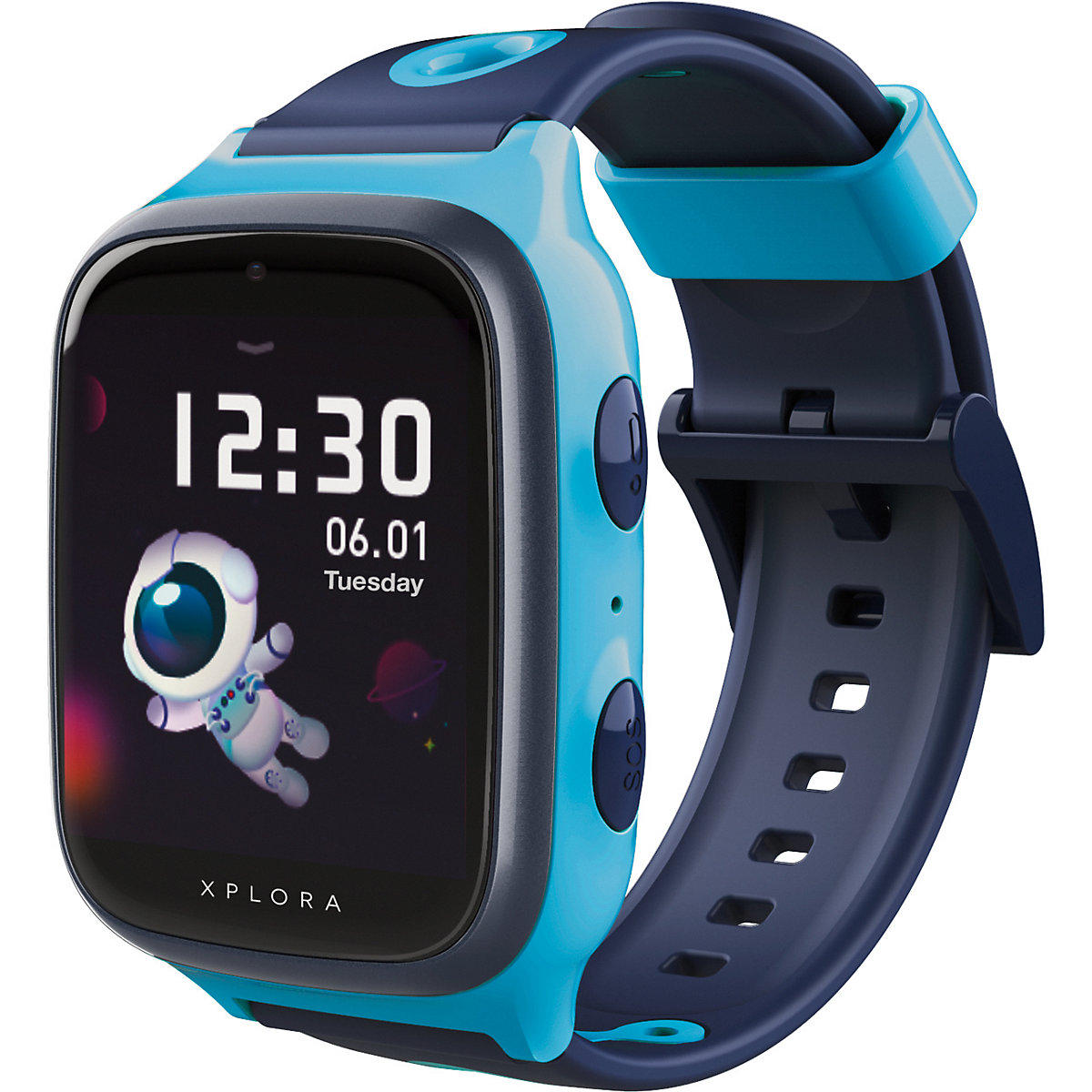 xplora 4  smartwatch für kinder  sim free blue xplora