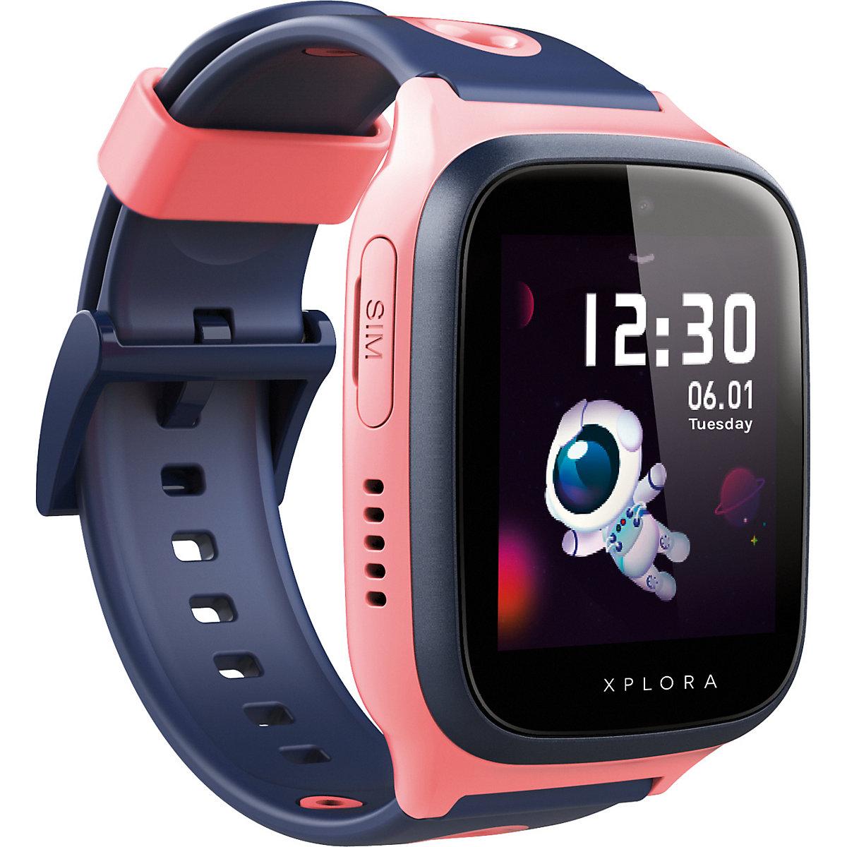 xplora 4  smartwatch für kinder  sim free pink xplora
