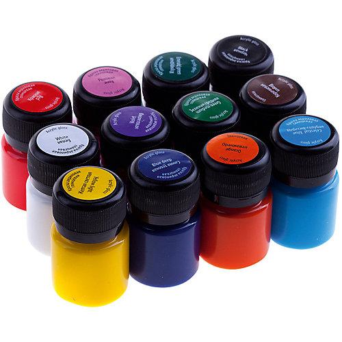 Акриловые краски 3ХК Decola, 12 цветов, глянцевые от Невская палитра