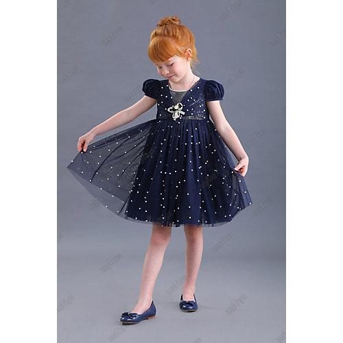 Нарядное платье Маленькая леди - синий от Маленькая Леди