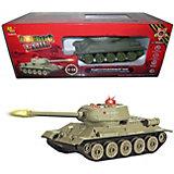 Боевой танк Abtoys Т34 на радиоуправлении, свет/звук