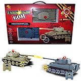 Танковый бой Abtoys Т-34 и Тигр на радиоуправлении, свет/звук