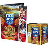 Альбом Panini  FIFA 365 - 2020 и бокс с наклейками, 50 пакетиков в боксе